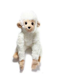Vintage Gund 1980 White Monkey Ape Chimp Plush Stuffed Animal Korea