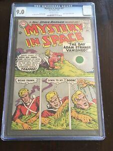 MYSTERY IN SPACE #97 CGC 9.0 OW 1965 Classic Lee Elias horror cover Adam Strange
