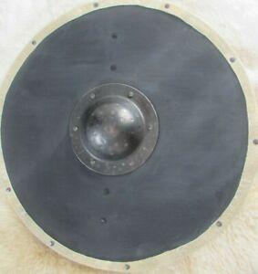 Plain black Viking / planked shield