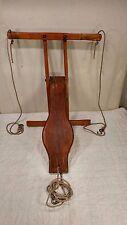 Vintage Antique Wood Wooden Swingset Swing Set Hanger Glider - Cool!