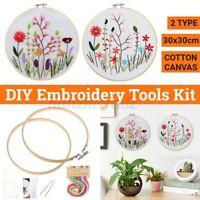 DIY Starter Cross Stitch Kit Embroidery Needlework Kit Craft Threads Tools