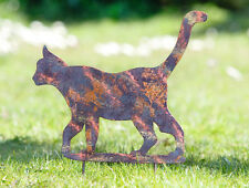 Gartenstecker Schimmer Katze, Gartensticker, Metall, Rostoptik, Schimmerkatze