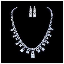 S3 Made Using Swarovski Crystals The Lumia Elegant Bridal Necklace Set $326