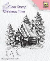 Nellie's Auswahl Klar Cling Stempel Weihnachtliche - Snowy Haus 2 - CT022