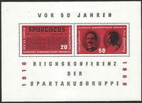 DDR #807 MNH S/S CV$1.75 Spartacus Liebknecht Luxemburg