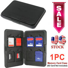 Black Memory Card Wallet 16 Micro SD SDHC Protecter Storage Holder Pouch Case US