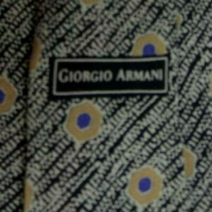 Black Gray Purple Abstract ARMANI Silk Tie