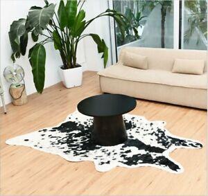 Cow Print Area Rug Faux Hide Fur Animal Hide Skin Area Rug Floor Mat Carpet Home
