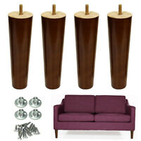 8 inch Furniture Legs Wood Sofa Legs Replacement Dresser Legs & Mounting Plates