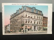 Antique POSTCARD c1910, Pittsfield, MA., Berkshire Life Insurance Building, Gold