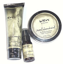 WEN 3 piece Sweet Almond Mint Styling Creme, Hair Treatment, Smoothing Gloss