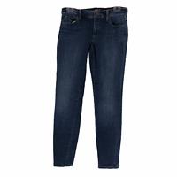 Ann Taylor Loft Womens Blue Medium Wash Mid Rise Super Skinny Denim Jeans Size 2