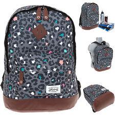 Rucksack BESTWAY Rocky MOUNTAIN Vintage Schulrucksack Daypack LEOPARD 1700 +f