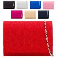 Ladies Glittery Clutch Bag Bridal Party Formal Bag Purse Wallet Handbag KH2224