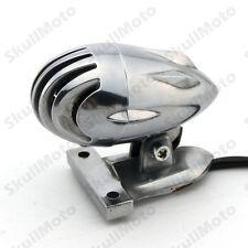 Retro Chrome Motorcycle Invader Torpedo Finned Tail Brake light Lamp SV650 CB