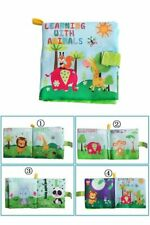 For 0-36M Soft Baby Cloth Book Early Educational Newborn Crib Toys Infant Anmial