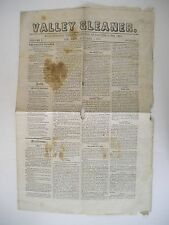 1857 Lee, Massachusetts Valley Gleaner, Vol. I, No. 1 Issue of Newspaper