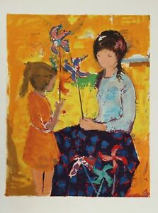 Willering Epko, Mother and Daughter, Lithograph