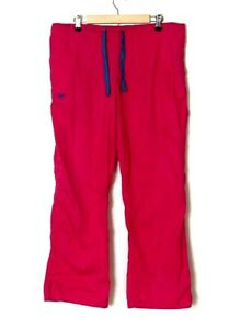 Med Couture Medical Scrub Drawstring Pants E-Z Flex Size Large Pink