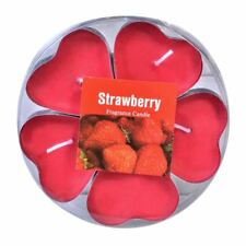 RED HEART TEALIGHTS CANDLE 4cm STRAWBERRY SCENTED 5pcs