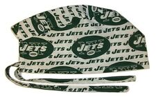 Surgical Scrub Hat Cap Made with New York Jets Nfl Fabric Nurse Chemo Er Skull
