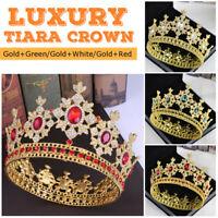 8cm High Luxury Bridal Wedding Crystal Rhinestone Tiara Crown Headband Party