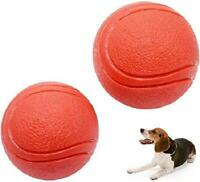 2-Pack Solid Rubber Dog Balls,Dogs Solid Rubber Bouncy Ball Bite Resistant and I