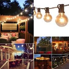 Retro Solar String Lights Outdoor Garden 50FT Festoon Party Globe Bulbs Light