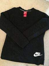 Nike chunky/textured sweater. Color: black, size: L long sleeves