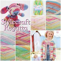 Stylecraft REGATTA Cotton Mix DK Weight Knitting/ Crochet Yarn 100g Ball