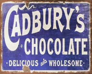 CADBURY'S CHOCOLATE BOURNEVILLE SWEET SHOP METAL PLAQUE SIGN OTHERS LISTED1208