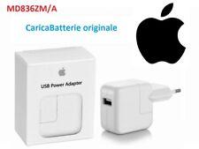 CaricaBatterie Originale APPLE USB 12W Alimentatore da rete Rapido MD836ZM/A