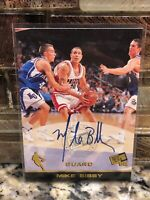 1998-99 Press Pass Autographs Mike Bibby Vancouver Grizzlies Auto Rookie Card