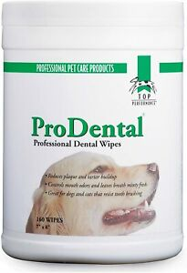 Top Performance Pro Dental Wipes for Dogs and Cats Safe and Effective 160 Wipes