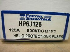 Mersen HP6J125 Helio Protection Fuses 600Vdc 125A Class J for PV Systems