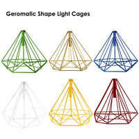 Retro Pendant Shade LED Geometric Wire Design Easy Fit Lighting Cage Light shade