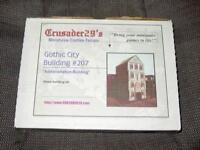 Crusader 29's - GOTHIC CITY BUILDING  Miniatures #207 - Wargames Terrain (NEW)