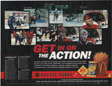"""1996-97 McDonald's """"Exciting 3-D"""" Hockey Cards Placemat, """"Get In On The Action"""""""