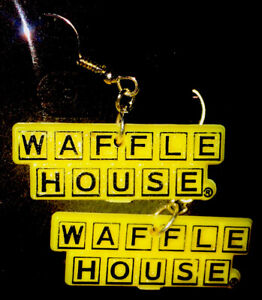 Waffle House Earrings Apparel Accessories Unique Logo