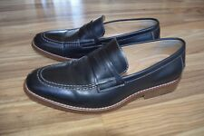 Bass Black Leather Classic Dress Shoes Penny Loafer 70-10114 Mens Sz 10.5 M