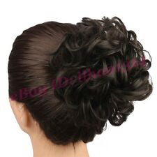Women's Hair Bun Messy Curly Clip in Hair Extension Hairpiece Drawstring Chignon