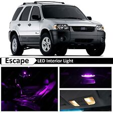12x Fuchsia Purple Interior LED Lights Package Kit for 2001-2006 Ford Escape