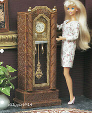 """""""STANDING WALL CLOCK""""~Plastic Canvas PATTERN ONLY fits BARBIE FASHION DOLL"""