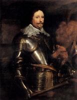 Stunning Oil painting Anthony van Dyck - Portrait Of Frederik Hendrik in Armor
