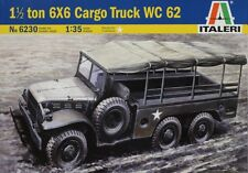 Italeri 6230 1/35th Scale.  1 ½  Ton 6x6 Cargo Truck WC 62. Plastic Kit