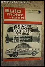 AMS Auto Motor Sport 18/64 VW 1500 NSU Wankel Spider Austin Healey Sprit