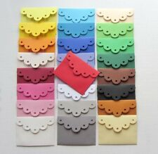 25 MINI ENVELOPPES 7x5,3cm _ Die cut scrapbooking carterie - 25 couleurs assorti