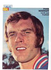 Paul Madeley Inglaterra internacional 1971-1977 Original Foto Firmada De Corte