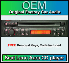 SEDILE Leon Aura Lettore CD, SEDILE Aura Radio Stereo Auto, fornito con Codice Radio