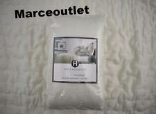Hotel Collection Connection EURO Quilted Pillowshams Set Ivory